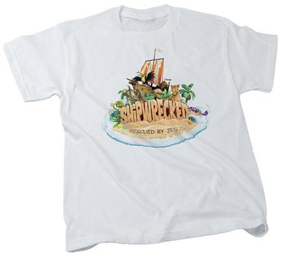 Shipwrecked: Adult Theme T-shirt, X-Large (46-48)  -
