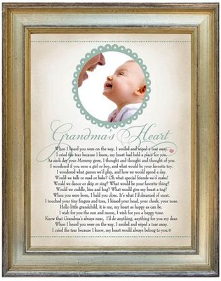 Grandma's Heart, Pray Photo Frame  -