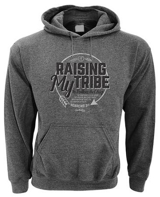 Raising My Tribe, Hooded Sweatshirt, Gray, X-Large  -