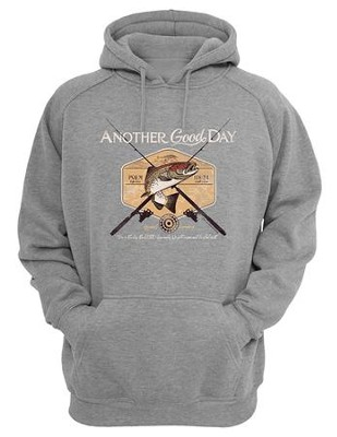 Another Good Day, Hooded Sweatshirt, Gray, Large  -