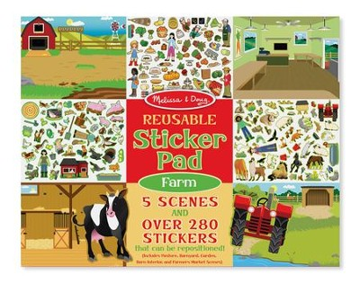 Farm, Reusable Sticker Pad  -