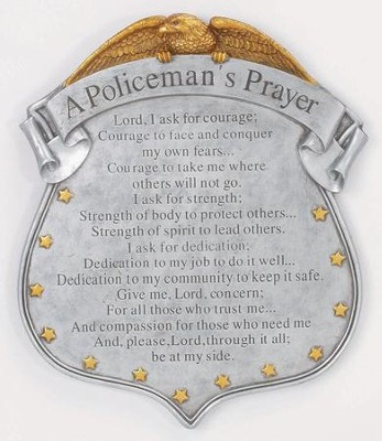 A Policeman's Prayer Stepping Stone  -