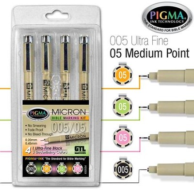 PIGMA Micron 05/005 Bible Note Pens, Set of 4   -