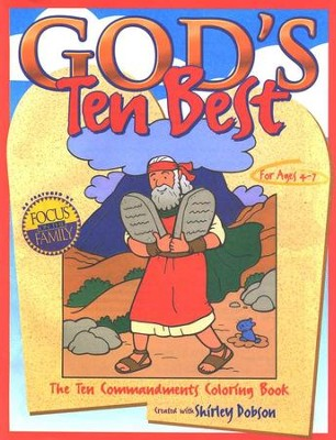 Gods Ten Best The Commandments Coloring Book