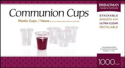 B&H Plastic Communion Cups, 1000   -