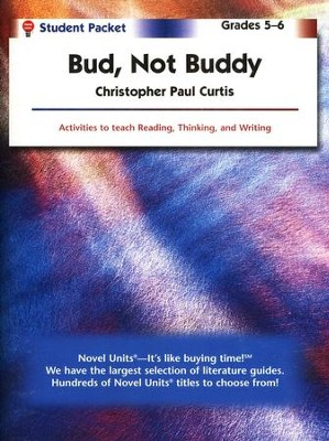 bud not buddy novel units student packet grades  bud not buddy novel units student packet grades 5 6 by