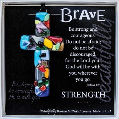 Brave, Mosaic Cross Ornament  -