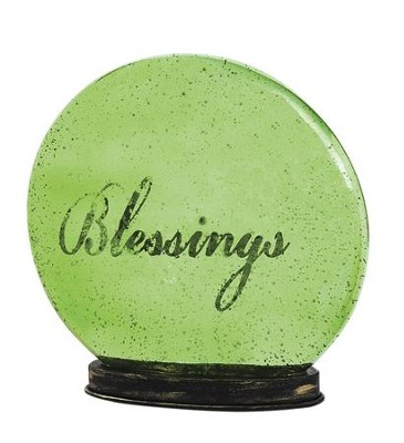 Blessings Indoor LED Glass Globe  -