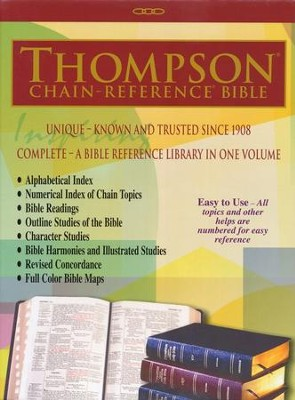 NKJV Thompson Chain-Reference Bible, Burgundy  Genuine Leather, Capri Grain  -