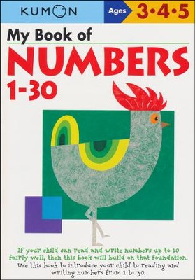 Kumon My Book of Numbers 1-30, Ages 3-5    -