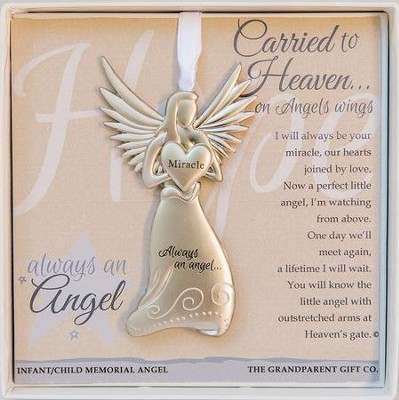 Baby Memorial, Always An Angel Ornament  -