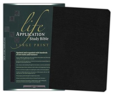 NLT Life Application Study Bible, Large Print, Black Bonded  Leather (Updated Edition)  -