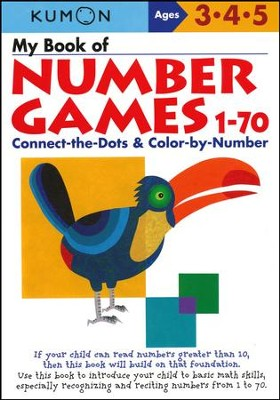 Kumon My Book of Number Games 1-70, Ages 3-5    -
