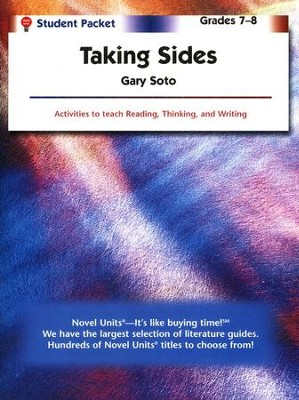 Taking Sides, Novel Units Student Packet, Grades 7-8   -     By: Gary Soto