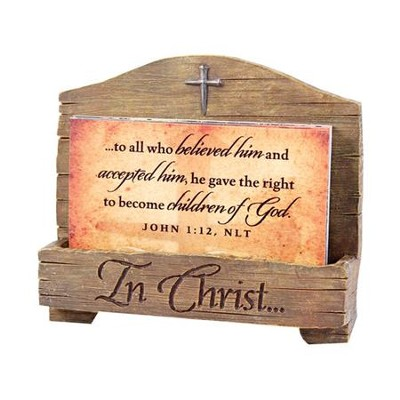 In Christ, John 1:12, Scripture Card Holder  -