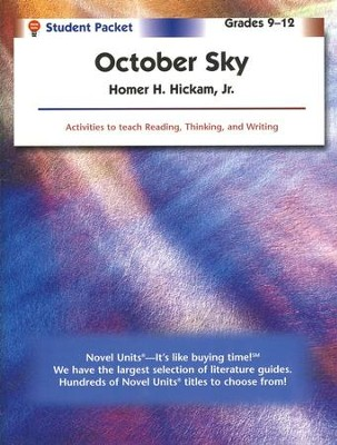 October Sky, Novel Units Student Packet, Grades 9-12   -     By: Homer Hickam