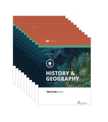 Lifepac History & Geography Workbook Set, Grade 10   -