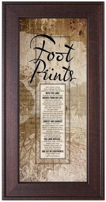 Footprints Framed Art  -
