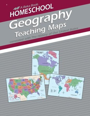 Homeschool Geography Teaching Maps Book   -