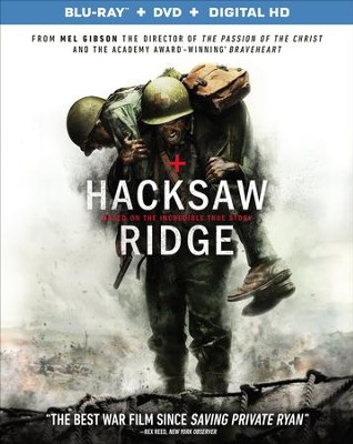 Hacksaw Ridge, Blu-Ray/DVD/Digital HD   -
