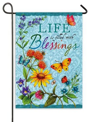 Life Is Filled With Blessings Flag, Mini  -