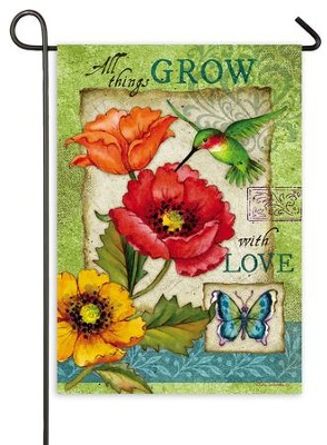 All Things Grow With Love Flag, Mini  -