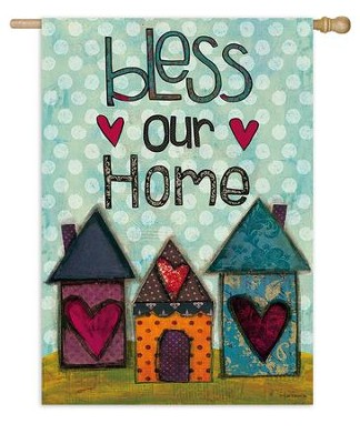 Bless Our Home Flag, Large  -