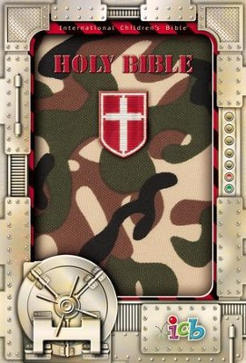 Small Hands Bible, Green Camo, ICB  -