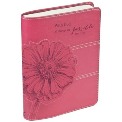 With God, All Things Are Possible Journal, Pink  -
