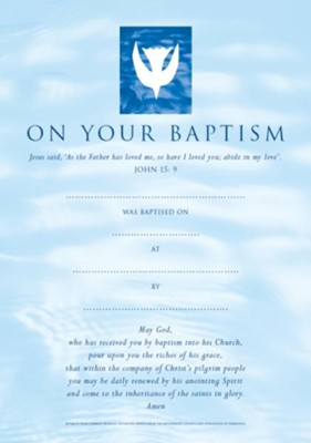 Baptism Certificates Contemporary (Pack of 20)  -