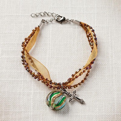 Living Water Cross Bracelet, Gold  -