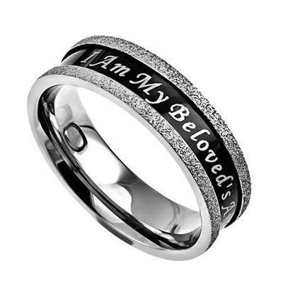 Beloved, Black Champagne Women's Ring, Size 6 (Song of Songs 6:3)  -
