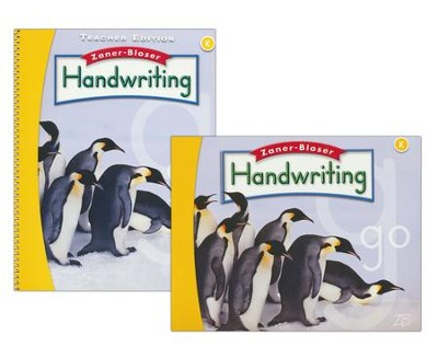 Zaner-Bloser Handwriting Grade K: Student & Teacher Editions (Homeschool Bundle -- 2016 Edition)  -
