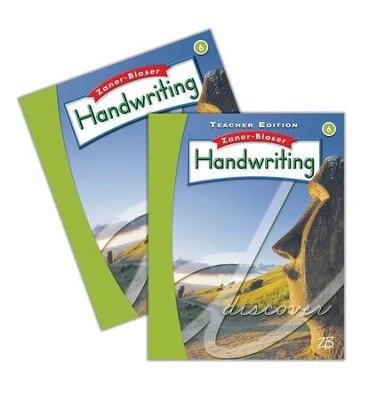 Zaner-Bloser Handwriting Grade 6: Student & Teacher Editions (Homeschool Bundle -- 2016 Edition)  -