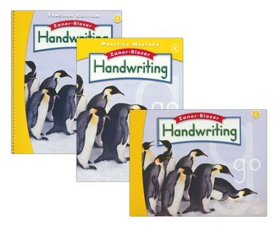 Zaner-Bloser Handwriting Grade K: Student, Teacher, & Practice Masters (Homeschool Bundle -- 2016 Edition)  -