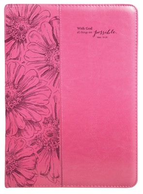 With God, All Things Are Possible Folder, Pink  -