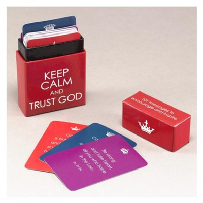 Box of Blessings, Keep Calm and Trust God   -