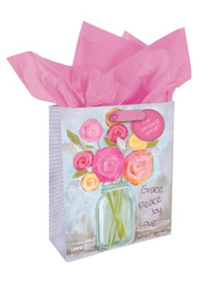 Grace Peace Joy Love Gift Bag, Medium  -