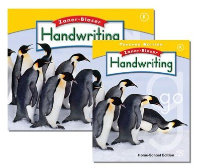 Zaner-Bloser Handwriting Grade K: Student & Teacher Editions (Homeschool Bundle)  -