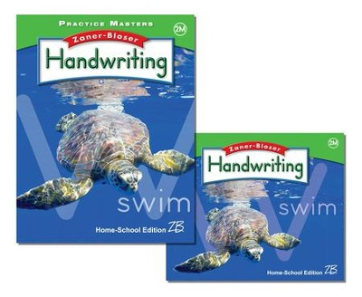 Zaner-Bloser Handwriting Grade 2M: Student Edition & Practice Masters (Homeschool Bundle)  -
