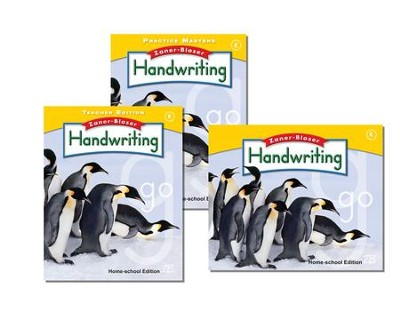 Zaner-Bloser Handwriting Grade K: Student, Teacher, & Practice Masters (Homeschool Bundle)  -