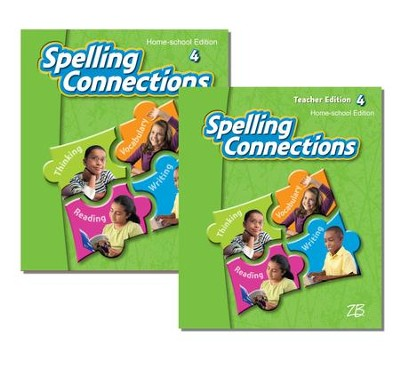 Zaner-Bloser Spelling Connections Grade 4: Student & Teacher Editions (Homeschool Bundle)  -