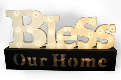 Bless Our Home Light Up Sign  -