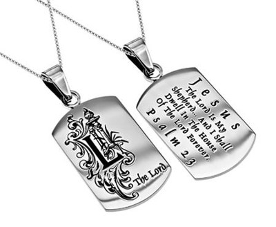 The Lord, Letter Dog Tag   -