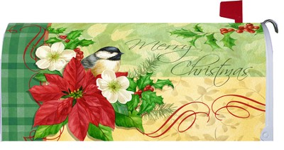 Christmas Chickadee, Mailbox Cover  -