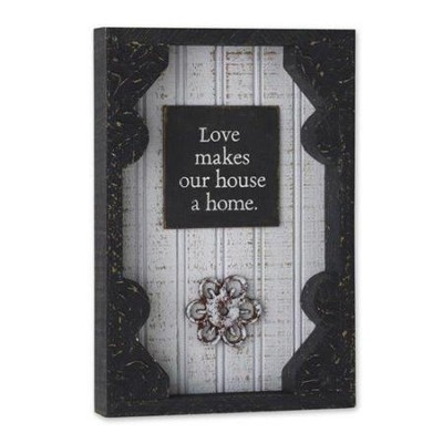 Love Makes Our House a Home, Framed Wall Art  -     By: Holly Christine Moody