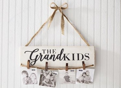 The Grandkids, Wood Hanging Photo Holder  -