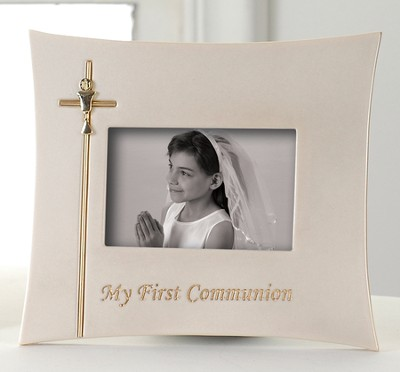 My First Communion Photo Frame, Holds 3 x 5 Photo  -