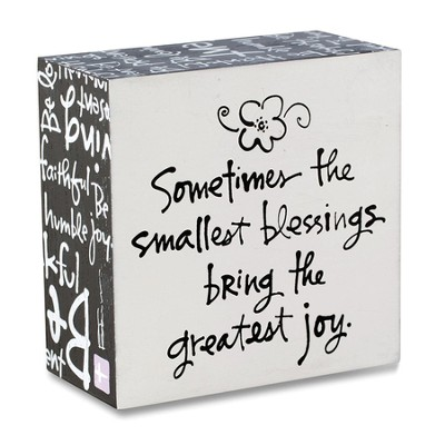 Smallest Blessing, Box Plaque  -     By: Kathy Davis