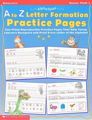 Alpha Tales: A To Z Letter Formation Practice Pages  -